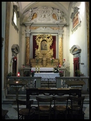 The interior of the Chiesa della Madonna del Morbo, Poppi, Tuscany, Italy