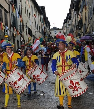 A medieval festival taking place in Anghiari, Italy