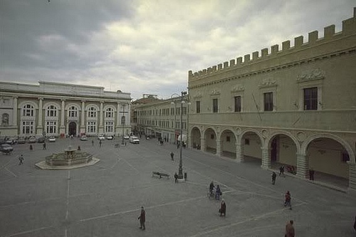 Pesaro town square with the palace on the right