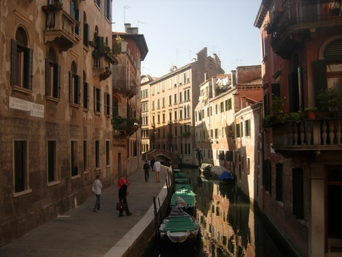 a quiet canal in the San Polo district of Venice