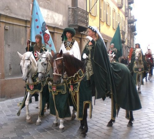 Medieval procession for the Verres Carnival Aosta