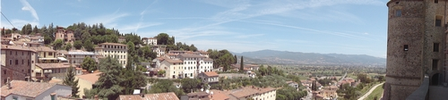 Anghiari landscape showing the rest of the town