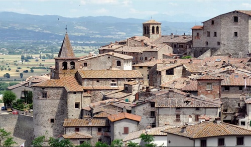The town of Anghiari Italy