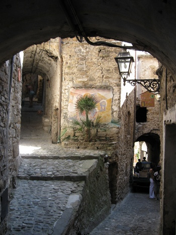 The medieval town of Apricale in Liguria, Italy