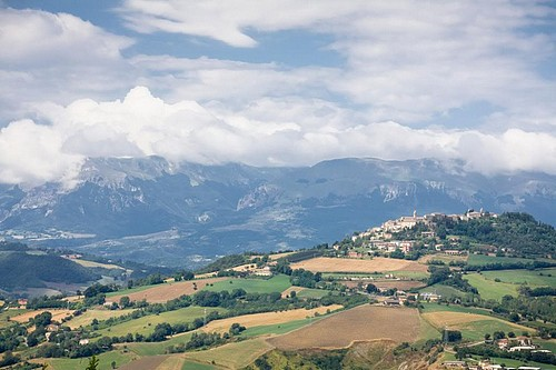 Country views of Le Marche Italy