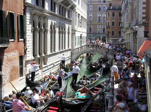 Crowded Venice during the summer in Italy