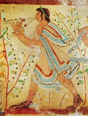 Etruscan Pipe Player