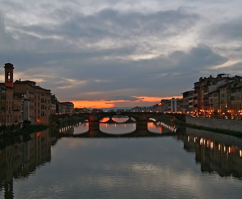 A Florence sunset over the River Arno