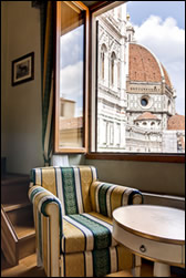 A hotel room with a view of the Duomo complex from Hotel Bigallo Florence2