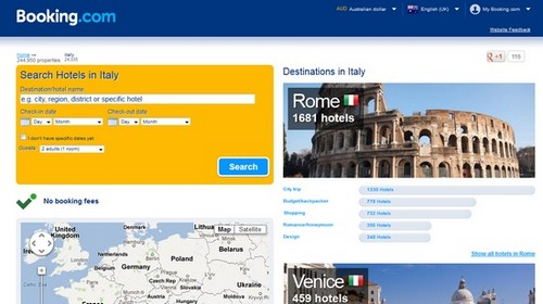 Booking.com for hotels in Italy