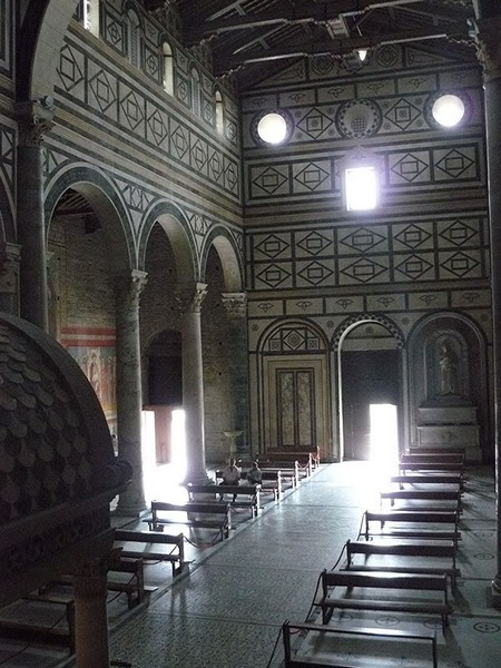 Interior of the San Miniato church in Florence.