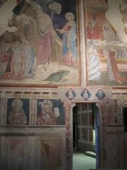 Frescoes inside Poppi Castle