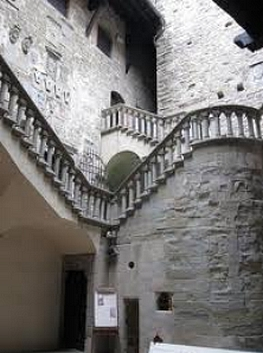 The inner courtyard of Poppi Castle, Tuscany
