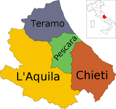 A Detailed Map of Abruzzo Italy