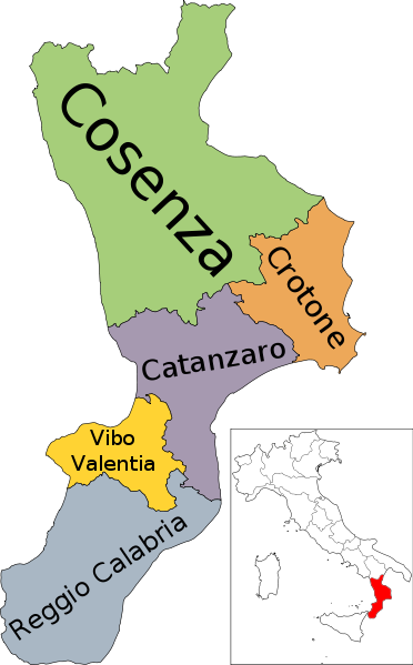 A Detailed Map of Calabria Italy