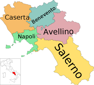 Map Showing Regions Of Italy.A Detailed Map Of Campania Italy