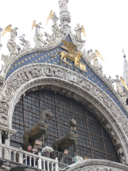 detail of san marco basilica architecture
