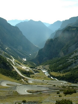 The mountains and valley of Stelvio, Italy